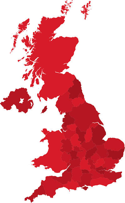 UK counties map updated 270819