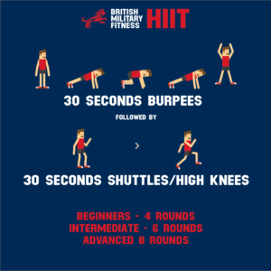 HIIT workout BMF X-ERT military fitness training exercise 1