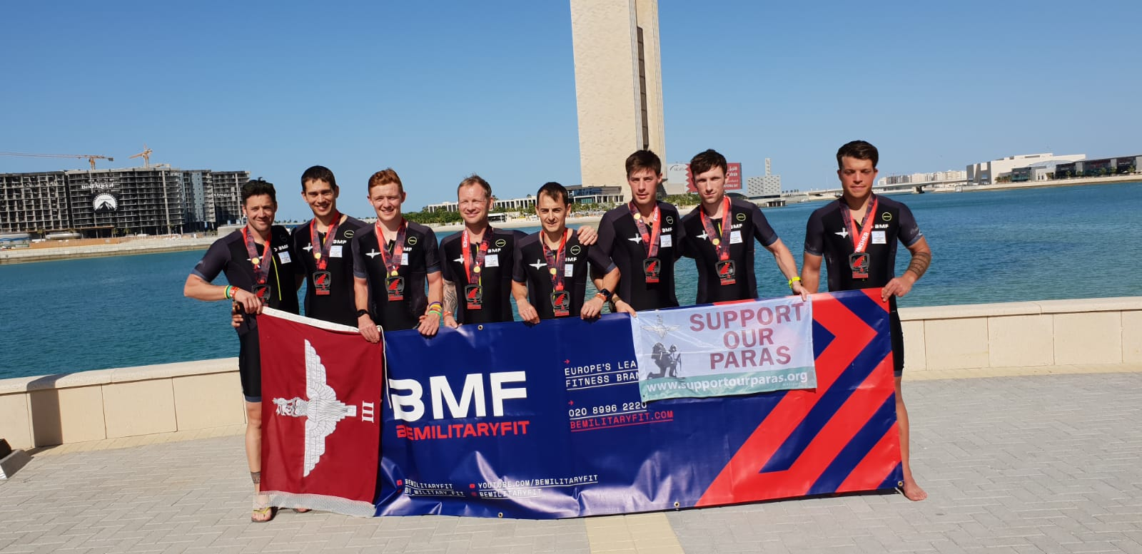 The Parachute Regiment tri team complete first international event